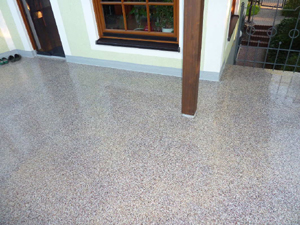 Sehr Terrassenboden Beschichtung selber abdichten, wasserdicht versiegeln RF35